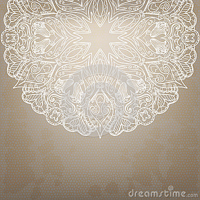 Vintage round lace pattern.
