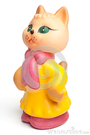Free Vintage Rubber Lady Cat Toy Royalty Free Stock Photos - 81858598