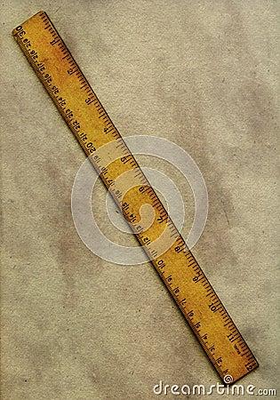 Vintage ruler and paper