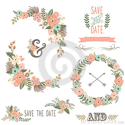 Free Vintage Rustic Floral Wreath Stock Photo - 71809150