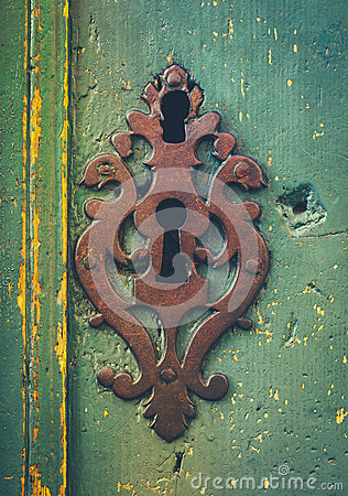 Free Vintage Rustic Keyhole Decoration Royalty Free Stock Images - 47515319