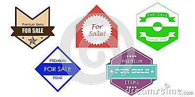 Vintage sale icons