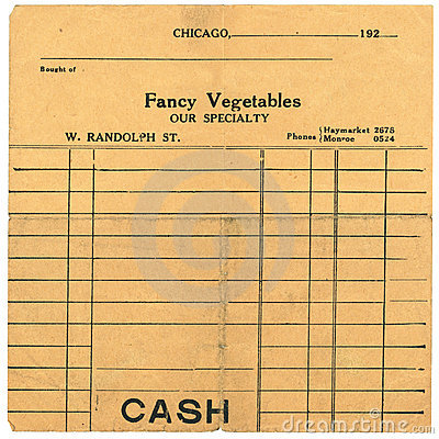 Vintage Sales Receipt from the 1920 s