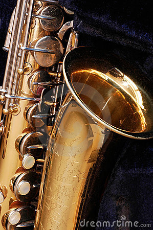 Free Vintage Saxophone Royalty Free Stock Photography - 530767