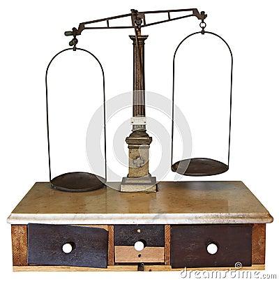 Free Vintage Scales Royalty Free Stock Photos - 39154528