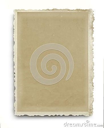 Free Vintage Scalloped Photo Frame Isolated Stock Images - 53771534