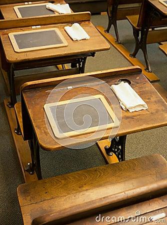 Free Vintage School Desks Stock Photos - 31790493