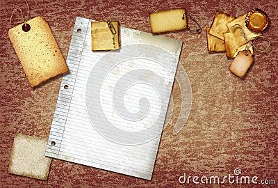 Vintage scrap paper