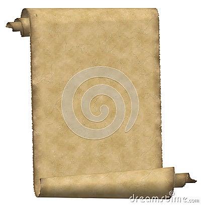 Vintage scroll paper