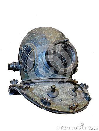 Vintage scuba helmet