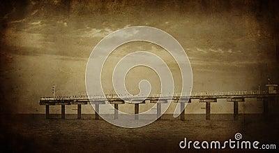 Vintage sea picture