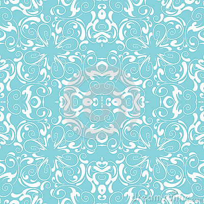 Vintage Seamless Background, Blue And White Decor Royalty ...