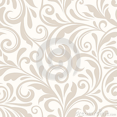 Free Vintage Seamless Beige Floral Pattern. Vector Illustration. Royalty Free Stock Image - 46310426