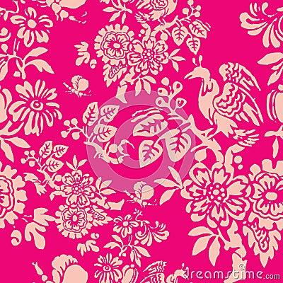 Free Vintage Seamless Pattern Stock Image - 17387211