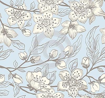 Free Vintage Seamless Spring Floral Background Stock Images - 38991264