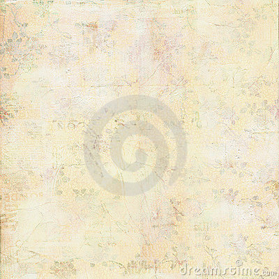 Vintage shabby canvas painted texture with flowers