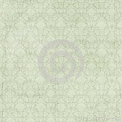 Free Vintage Shabby Chic Green Damask Background Royalty Free Stock Image - 38125376
