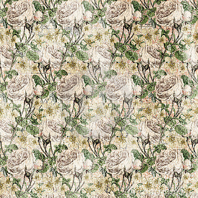 Vintage Shabby chic rose background texture