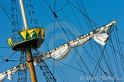 Vintage ship mast
