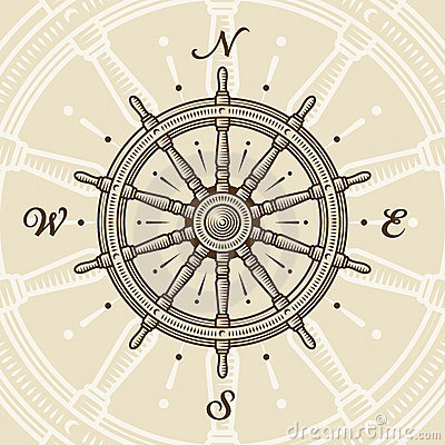 Free Vintage Ship Wheel Stock Images - 17415294