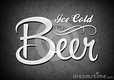 Vintage sign - Ice cold beer