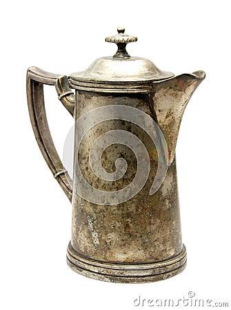 Vintage silver coffeepot