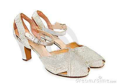 Vintage silver leather shoes