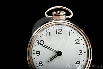 Vintage simple pocket watch face
