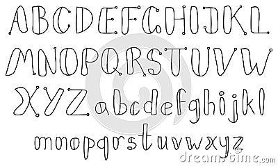 Vintage sketch alphabet