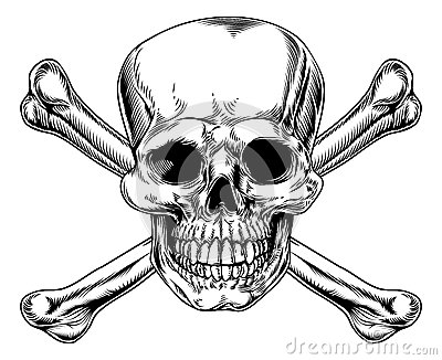 Vintage Skull And Crossbones Sign Stock Photography Image 35750042