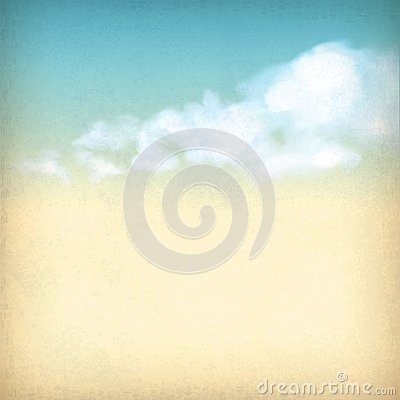 Free Vintage Sky Clouds Old Paper Textured Background Royalty Free Stock Images - 29576429