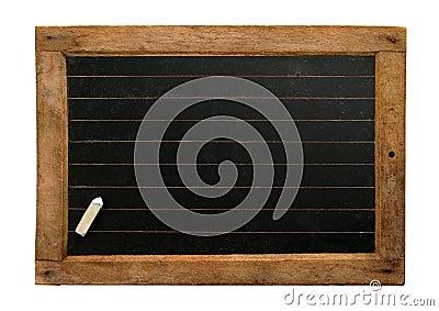 Vintage slate with chalk