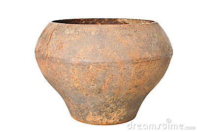 Vintage Slavonic rusty pig-iron pot ,mug,jug