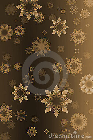 Vintage snowflakes background