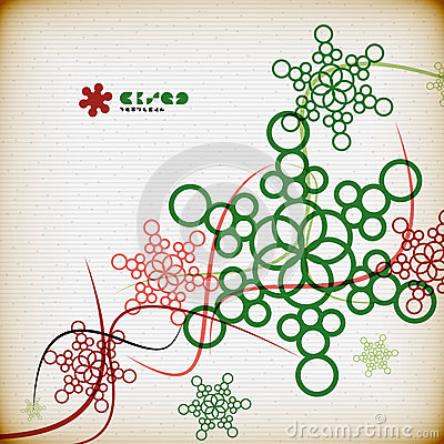 Vintage snowflakes minimal abstract background