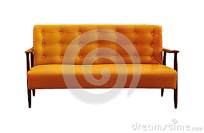 Vintage sofa isolated on white