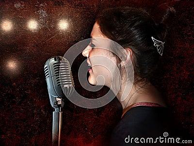 Vintage soul singer