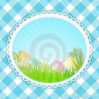 Vintage speckled easter background oval