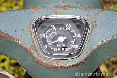 Vintage Speedometer of motorcycle