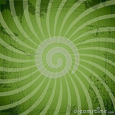 Vintage spiral green background with blots