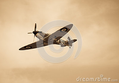 Vintage Spitfire Editorial Stock Image