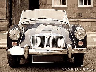 A vintage sport car