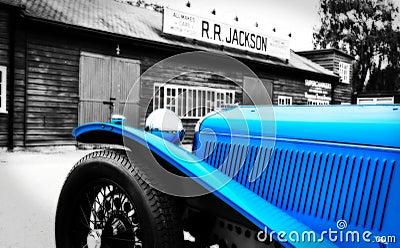 Vintage Sports Car - Blue