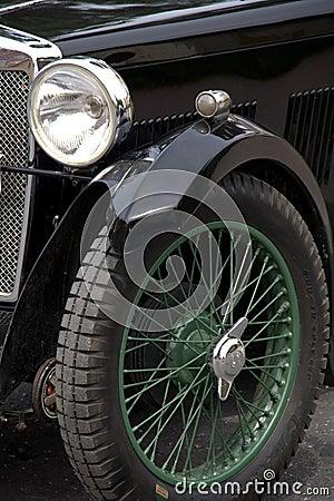 Vintage sports car detail