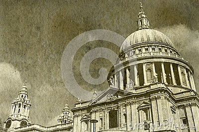 Vintage St. Paul s Cathedral in London