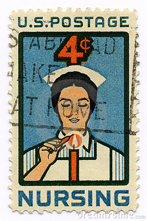 Vintage stamp for nurses