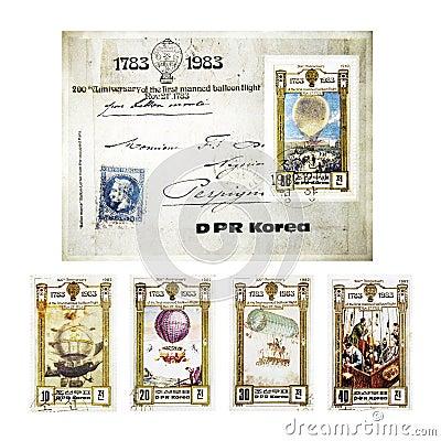 Vintage Stamps from DPR Korea