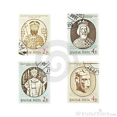 Vintage Stamps from Magyar