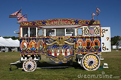 Vintage Steam Calliope and Circus Wagon