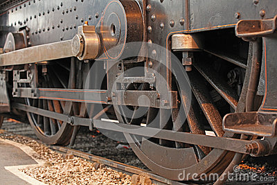 Vintage steam train wheels